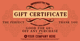 Gift Certificae Facebook Shared Image template