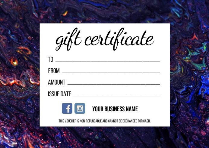 Gift Certificate Postcard template