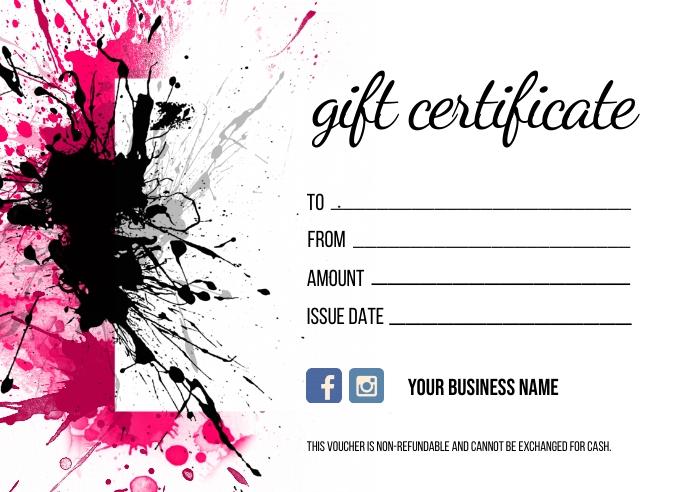Gift Certificate Postkort template