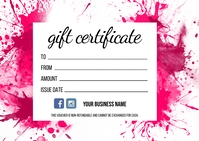Gift Certificate Postal template