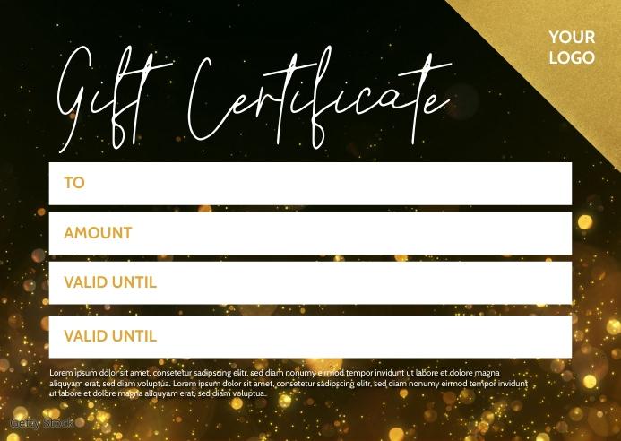 gift certificate Voucher Coupon Bon Card Ad 明信片 template
