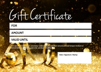 Gift certificate Voucher Coupon Bon Card Ad Postkort template