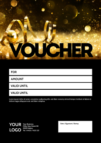 Gift certificate Voucher Coupon Bon Card Ad A4 template