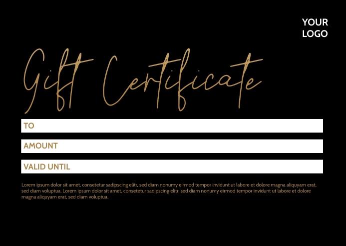 gift certificate Voucher Coupon Bon Card Ad Pocztówka template