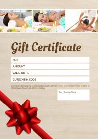 Gift certificate Voucher Coupon Bon Card Ad A4 template