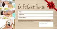Gift certificate Voucher Coupon Bon Card Ad Facebook Gedeelde Prent template