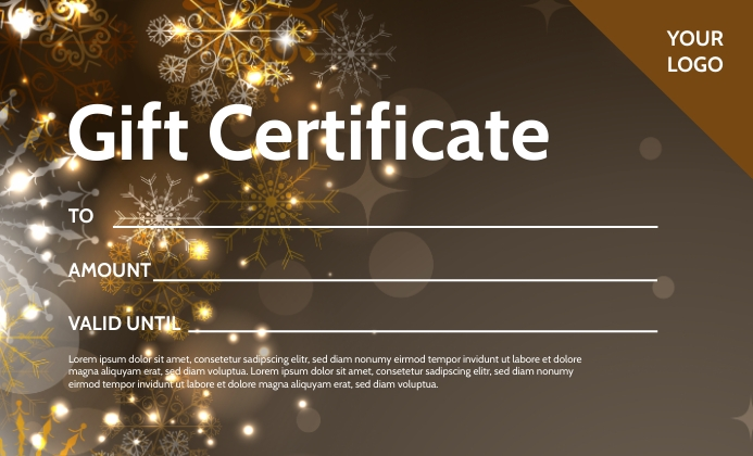 gift certificate Voucher Coupon Bon Card Ad US Legal template
