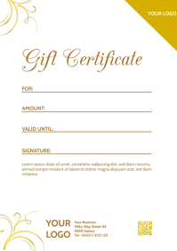 Gift certificate Voucher Coupon Bon Card Din A4 template