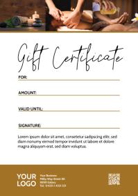 Gift certificate Voucher Coupon Bon Card Din A4 template