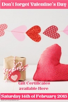 Gift Certificates Valentines Day