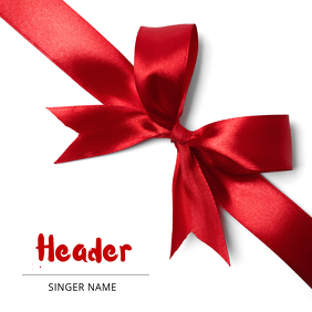 Gift Christmas Present Album Cover Template