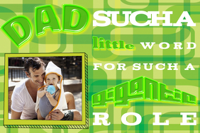 Personalize Gift for Dad Father's Day Quote