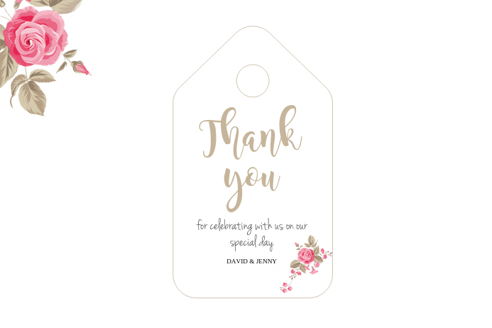 GIFT TAG TEMPLATE Etiket
