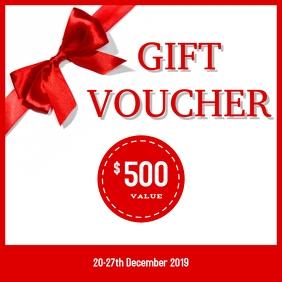 Gift voucher 03 Instagram Post template