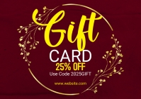 Gift Voucher Card Poskaart template