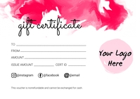 Gift Certificate Postcard template