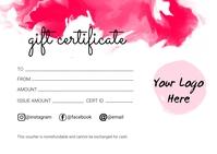 Gift Certificate Poskaart template