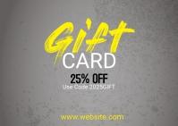 Gift Voucher Card ไปรษณียบัตร template