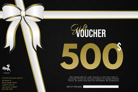 Gift Voucher Card Template Poster