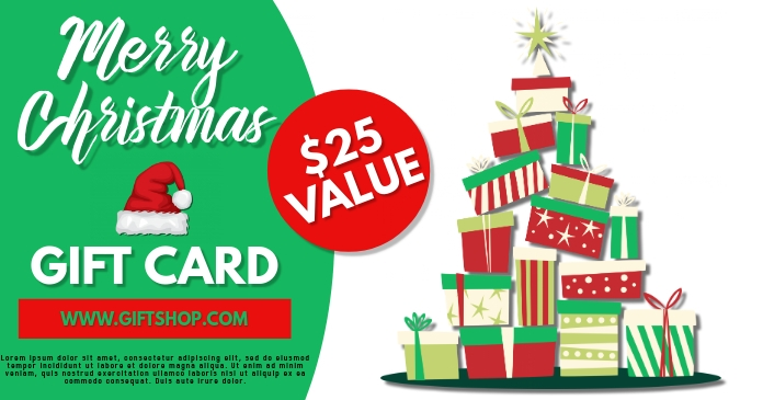 Gift Voucher Christmas Template