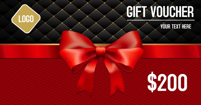 Gift voucher coupons Facebook 共享图片 template