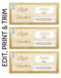GIFT VOUCHER Flyer (US Letter) template