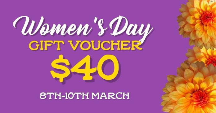 Gift Voucher Изображение, которым поделились на Facebook template