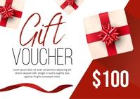 Gift Voucher Postcard template