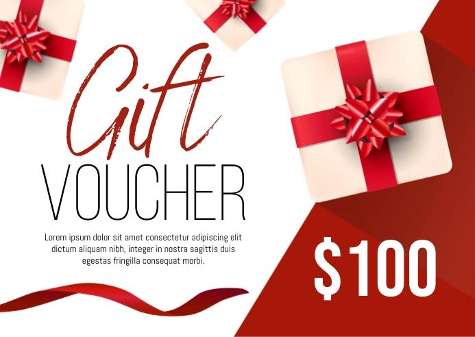 Gift Voucher Poskaart template