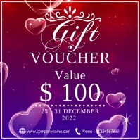 Gift voucher Instagram Post template