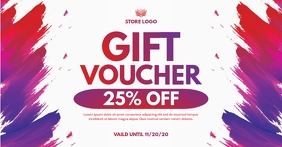 GIFT VOUCHER Facebook Shared Image template