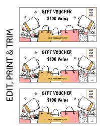 GIFT VOUCHER 传单(美国信函) template