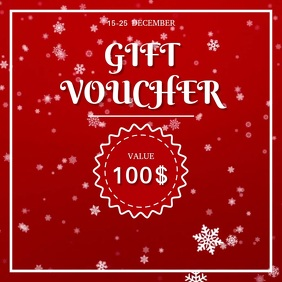 Gift Voucher Square (1:1) template