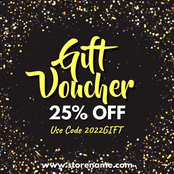Gift Voucher Digital Template