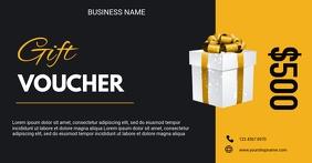 Gift voucher flyer Facebook Shared Image template