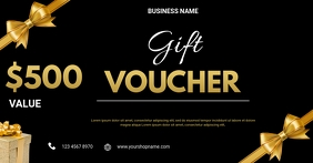 Gift voucher flyer Facebook Shared Image template