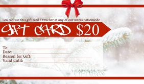Gift Voucher / Gift Card Template Тег