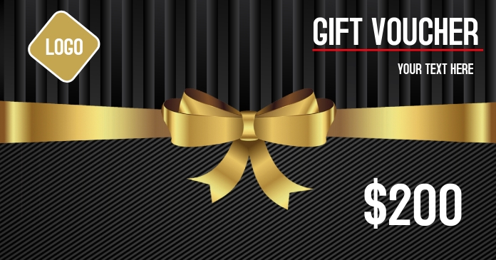 Gift voucher Gift coupons Facebook 共享图片 template