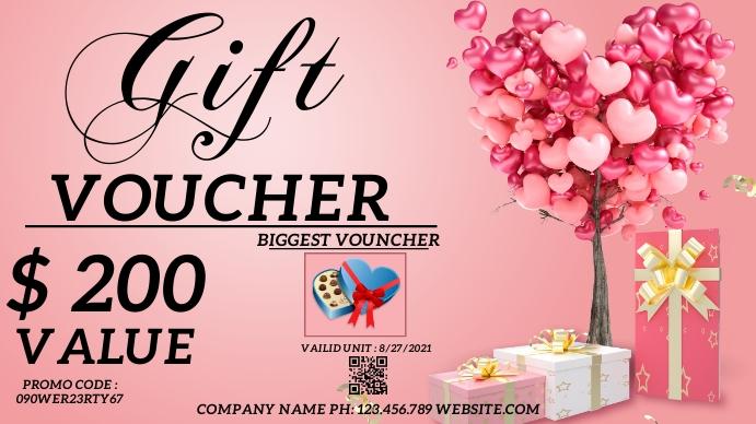 gift voucher template Pantalla Digital (16:9)