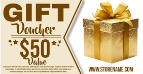 Gift Voucher Template Facebook Shared Image