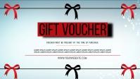 gift voucher template Video Sampul Facebook (16:9)