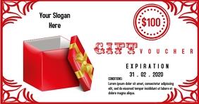 Gift voucher template Facebook Shared Image