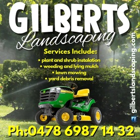 Gilbert's Landscaping Instagram Post