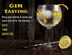 GIN Tasting Flyer (format US Letter) template