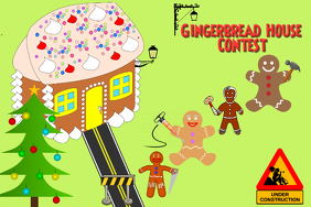 Gingerbread House Contest Poster