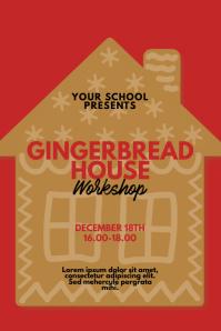 Gingerbread House Workshop Flyer design