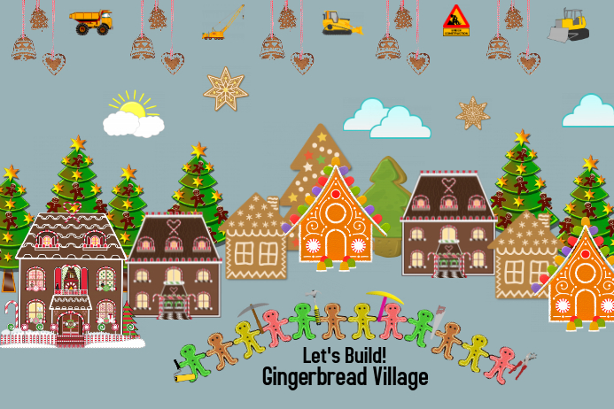 Gingerbread Village Template Postermywall