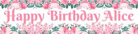Girl's Birthday Banner