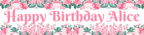 Girl's Birthday Banner Bannier 2' × 8' template