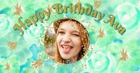Girl Birthday for Facebook template